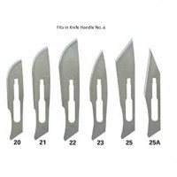 Sterile Surgical Blades  Box of 100  Stainless Steel  Size 20.